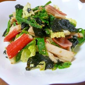 白菜と春菊のさっぱりサラダ