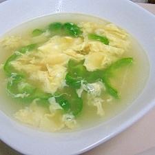 ピーマンのかき玉スープ