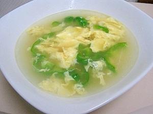 ピーマンかき玉スープ