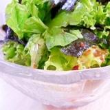 海苔とレタスのチョレギサラダ