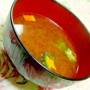 胡麻香る❤南瓜とオクラと南瓜のおみそ汁❤