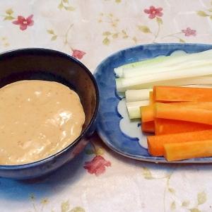 野菜スティックサラダ&和風みそマヨデップソース