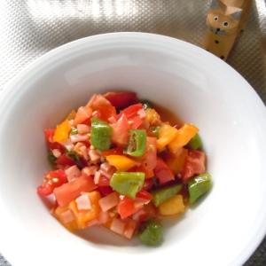 万願寺唐辛子とトマトのさっぱりマリネ♪