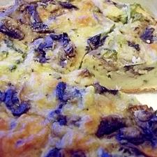 マッシュルームのへルシー・チーズパイ