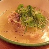 白湯風♪トロしゃき鶏ぱいたんスープ