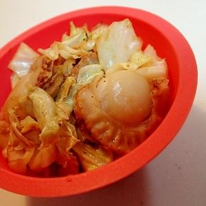 お弁当 ベビーホタテとキャベツのピリ辛炒め♬