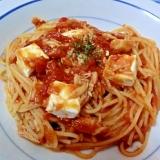 ☆クリームチーズとツナのトマトパスタ☆