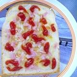 朝から満腹ピザトースト