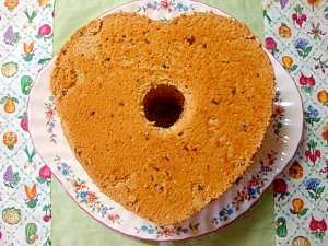 あんこのハート型シフォンケーキ