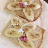 桜の香りのバナナトースト