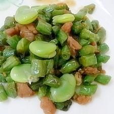 鶏肉といんげんの炒め物