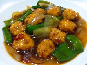 和風餡が美味しい♪鶏挽肉を使って酢鶏