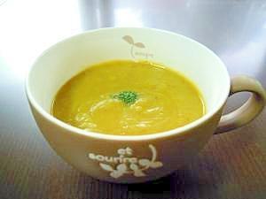 味付けは塩だけ。かぼちゃといろいろ野菜の冷製スープ