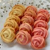 白とピンクの薔薇が花咲く♡絞り出し焼きチョコ