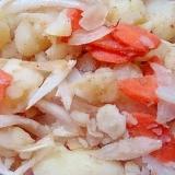 玉ねぎと人参のあっさりポテトサラダ