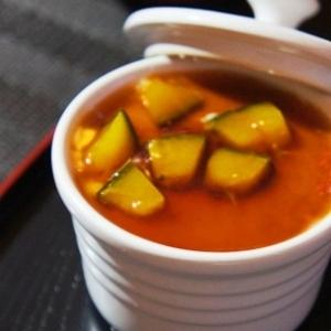 ふるふる、かぼちゃのとろける豆乳茶碗蒸し
