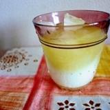 牛乳と水だし緑茶で アイス抹茶ラテ