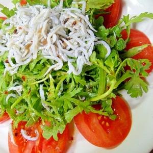 トマトと春菊のサラダ