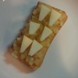 リンゴジャムとリンゴでWリンゴトースト