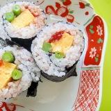 雑穀米で♡すじことインゲン玉子の巻き寿司