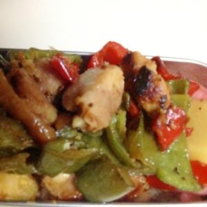 鶏肉とピーマンの塩麹オイル焼き