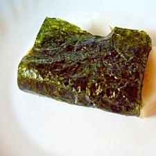 レンジで、やわらかぁ~みたらし海苔巻き餅
