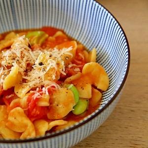 空豆のフレッシュトマトパスタ【KOZLIFE】
