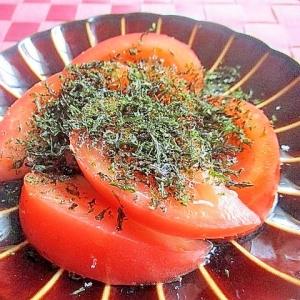 冷やしトマトの焼き海苔がけ