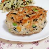 貧血やダイエット中に!鳥ひき肉とひじきの簡単バーグ