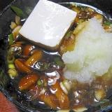 なめこおろしだれの湯豆腐