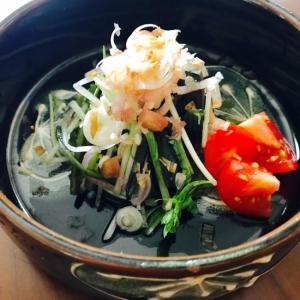 簡単♫式部菜と水菜のお浸し