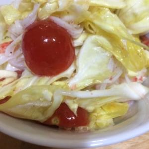 キャベツとカニカマのレモン風味サラダ(❁・∀・❁)