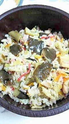 珍しい「畑シメジ」の茸ご飯