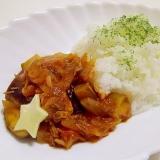 10分de簡単*サバ缶となすのトマト煮ライス*