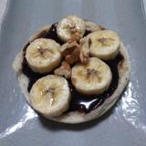 チョコバナナのイングリッシュマフィン