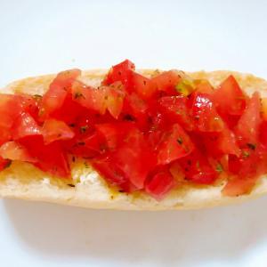 フランスパンでトマトのブルスケッタ