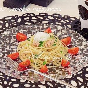 松茸の味お吸い物で☆ツナとカイワレのパスタ