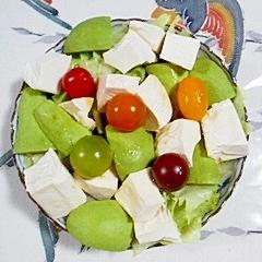 レタスと塩とうふのサラダ