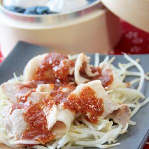 台湾の熱炒料理『蒜泥白肉』