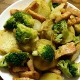 ジャガイモとブロッコリーのバジルソース炒め