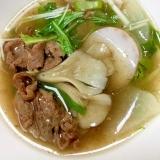 簡単&温まる!牛コマ肉と野菜のスープ