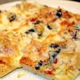 ブラックオリーブのピッツァ