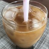 牧場のミルクジャム入り♡アイスコーヒー