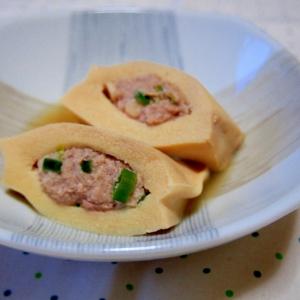 高野豆腐に肉詰め♪煮物でも大満足!
