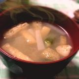 大根とオクラとうすあげのお味噌汁