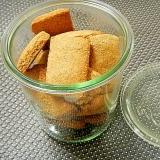 素朴ヽ(*´∀`)ノヘルシー♪煎りぬかクッキー