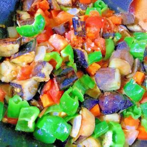 さっぱり美味しい生姜佃煮と大葉の彩り和風カポナータ
