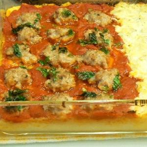 トマトサルシッチャとしらすマヨのポテトグラタン
