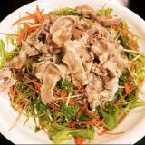 水菜と冷豚しゃぶのサラダ