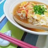 炒飯で天津飯。